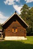 Choza rural vieja del registro Fotografía de archivo