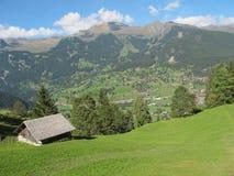 Choza sola en Jungefrau en Suiza Imágenes de archivo libres de regalías