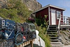 Choza sueca de la pesca Fotos de archivo libres de regalías