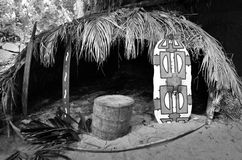 Choza tradicional del australiano nativo del Yirrganydji Aborig Fotos de archivo