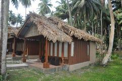 Choza tropical de la playa Imagen de archivo libre de regalías