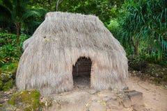 Choza y figuras, tradicionales, Hawaii Fotografía de archivo libre de regalías