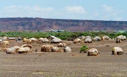Chozas africanas Foto de archivo libre de regalías