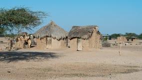 Chozas africanas tradicionales Imagen de archivo libre de regalías
