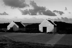 Chozas auxiliares en Bonaire Fotografía de archivo libre de regalías