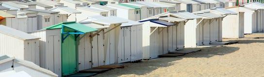 Chozas belgas de la playa Foto de archivo