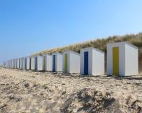 Chozas Cadzand de la playa foto de archivo libre de regalías