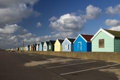 Chozas coloridas de la playa, Southwold, Suffolk, Inglaterra Fotos de archivo