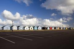 Chozas coloridas de la playa, Southwold, Suffolk, Inglaterra Imágenes de archivo libres de regalías