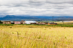 Chozas de Drakensburg Fotos de archivo