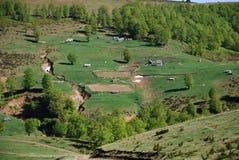 Chozas de la montaña Foto de archivo libre de regalías