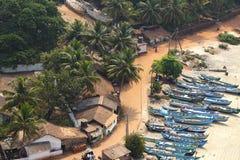Chozas de la pesca en la India Foto de archivo libre de regalías