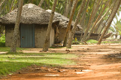 Chozas de la pesca en Kerala la India Imagen de archivo libre de regalías