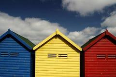 Chozas de la playa fotos de archivo libres de regalías
