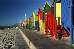 Chozas de la playa Imágenes de archivo libres de regalías