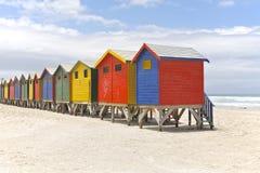 Chozas de la playa Imagenes de archivo