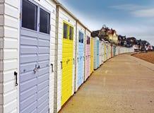 Chozas de la playa Fotografía de archivo libre de regalías