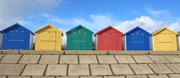 Chozas de la playa, Dawlish Warren imágenes de archivo libres de regalías