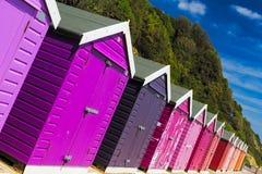 Chozas de la playa de Bournemouth Fotos de archivo libres de regalías