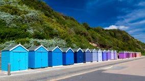 Chozas de la playa de Bournemouth imagenes de archivo