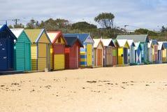 Chozas de la playa de Brighton Fotos de archivo libres de regalías