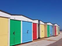 Chozas de la playa de Exmouth Fotos de archivo libres de regalías