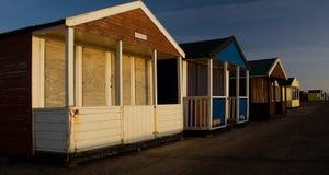 Chozas de la playa de Southwold Inglaterra Norfolk Imagen de archivo libre de regalías
