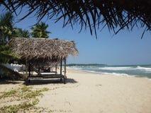 Chozas de la playa en Trincomalee Imagen de archivo