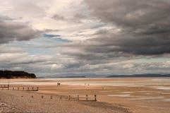 Chozas de la playa de Findhorn Foto de archivo libre de regalías