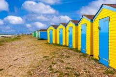 Chozas de la playa de Littlehampton Imagen de archivo