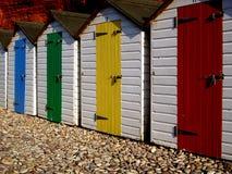 Chozas de madera de la playa Fotos de archivo libres de regalías