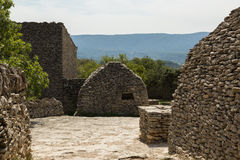 Chozas de piedra, DES Bories, Francia del pueblo Fotografía de archivo libre de regalías