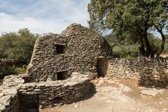 Chozas de piedra, DES Bories, Francia del pueblo Imagen de archivo libre de regalías