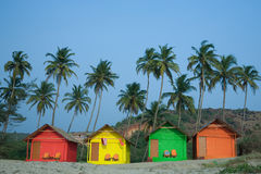 Chozas del color Imagen de archivo libre de regalías