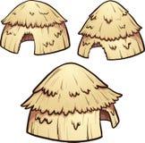 Chozas del heno ilustración del vector