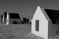 Chozas en blanco y negro Imagen de archivo