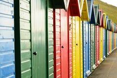 Chozas en una fila Imágenes de archivo libres de regalías