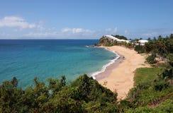 Chozas en una playa Fotos de archivo