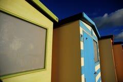 Chozas inglesas de la playa imagen de archivo libre de regalías