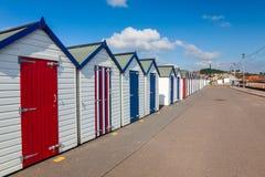 Chozas Preston Sands Devon de la playa Imagen de archivo libre de regalías