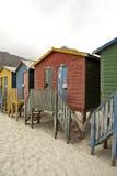 Chozas viejas de la playa Imagenes de archivo