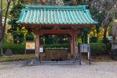Chozuya or Temizuya water ablution pavilion. At Zojo-ji Temple Stock Photo
