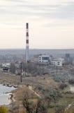 CHP in Kerch. Building a Kamysh-Burunskaya CHP in Kerch, Crimea. Top view Stock Photography