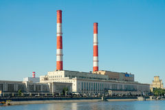 CHP plant 12, Moscow, Russia Stock Images