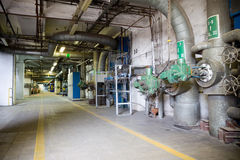 CHP Station In Lodz - Corridor Royalty Free Stock Images
