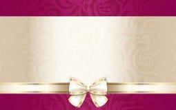 Chèque-cadeaux de lujo con el estampado de flores y el cr Foto de archivo