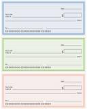 Chèques bancaires génériques blanc Image libre de droits