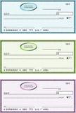 Chèques bancaires génériques blanc Images stock