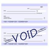 Chèques génériques blanc Images libres de droits
