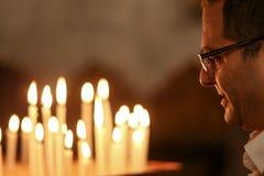 Chrétiens palestiniens à l'église de St Porphyrius à Gaza Image libre de droits
